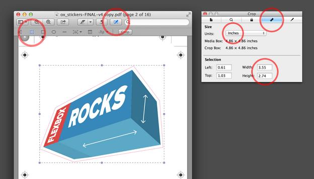 PDF आयाम Mac OS पूर्वावलोकन